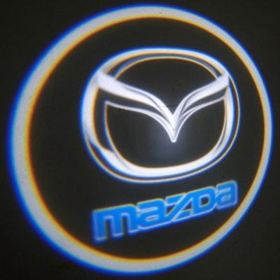 Подсветка в двери с логотипом Mazda